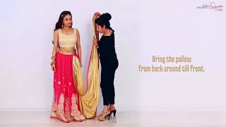 How To Wear A Lehenga Style Saree in Different Style  | Lehenga Style Saree Draping