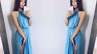 DIY | Шьём платье с резинкой по талии и со сборенным верхом