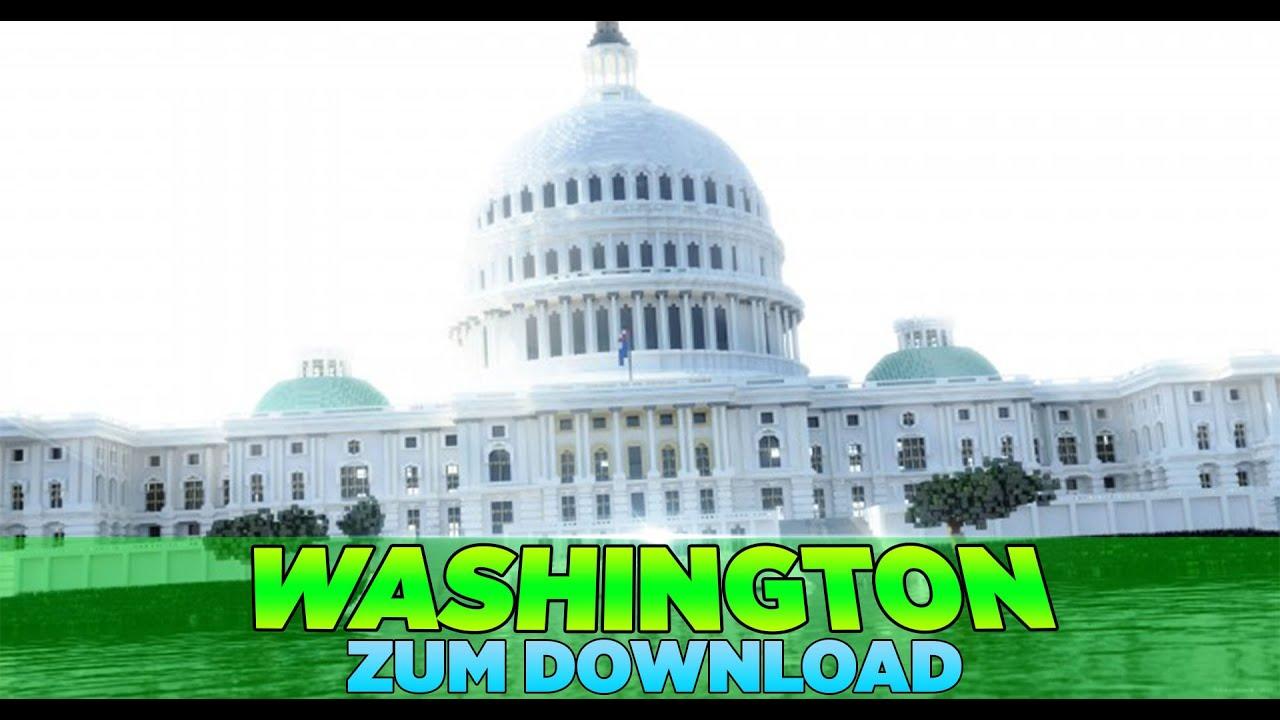 Washington Map Minecraft World MinecraftWelten YouTube