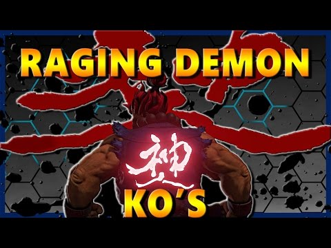 SFV - Akuma Sick Raging Demon KO's [Compilation] - SF5