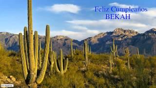 Bekah  Nature & Naturaleza - Happy Birthday