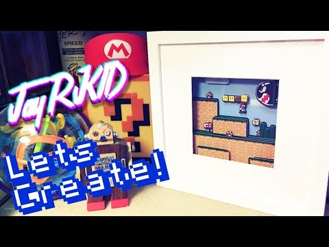 Lets Create Super Mario World 3D Shadow Box Game Art frame