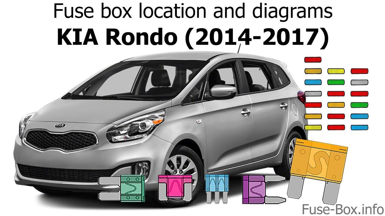 2014 kia rio fuse box fuse box location and diagrams kia rondo  2014 2017  youtube  fuse box location and diagrams kia