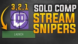 Destiny 2: Solo Comp Game against Stream Snipers at Legend Rank !