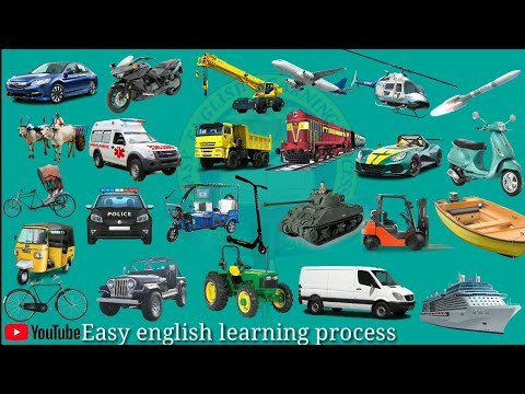 Transport vehicles name - Kids Learning
