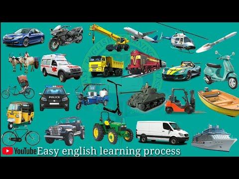 Transport Vehicles Name - Kids Learning