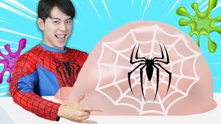 슈퍼히어로 슬라임 만들기 놀이 Mashu Pretend Play Making Satisfying Superheroes Slime - 마슈토이 Mashu ToysReview