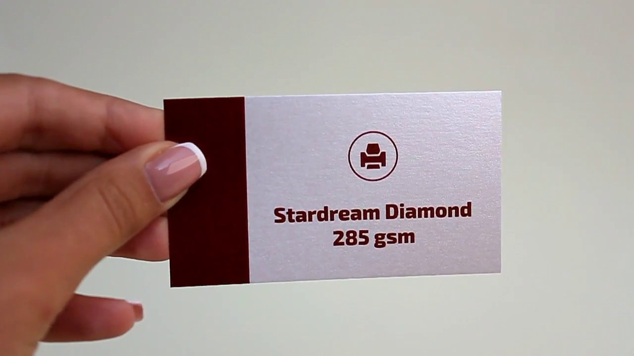 Business Card Cardboard Stardream Diamond - YouTube