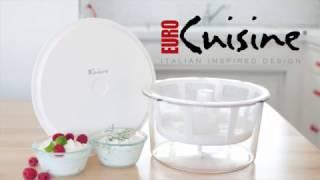 euro cuisine gy50 greek yogurt maker strainer