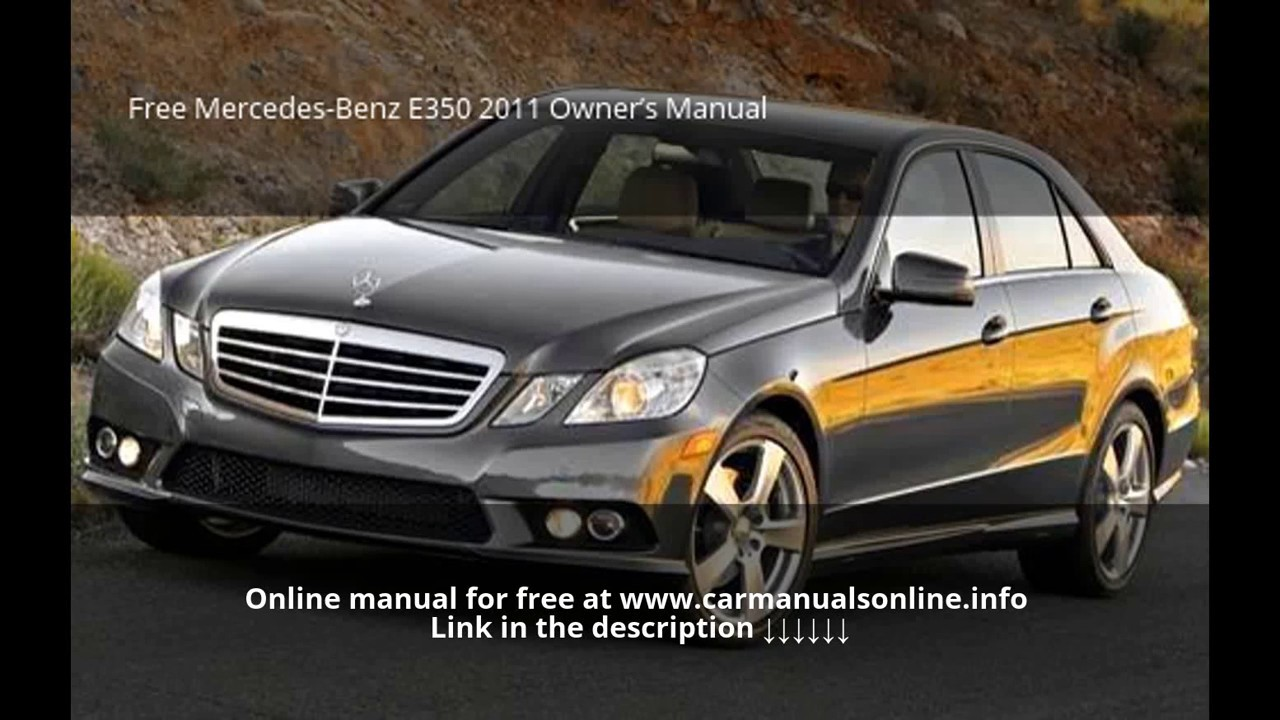 Mercedes E350 Manual 24 Volt Alternator Wiring Diagram Komatsu Dozer Array 2011 Owners Youtube Rh Com