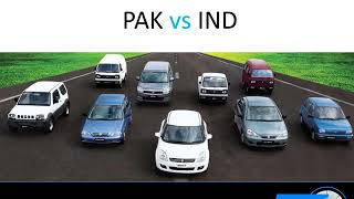 Comparison Price of Autos India or Pakistan Automobiles Company Vehicles