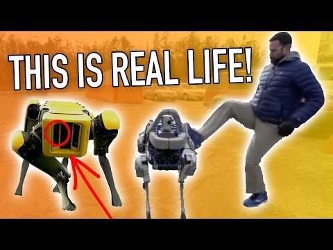 Robot Uprising is Upon Us!? Boston Dynamics New SpotMini Commercial Review