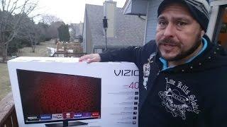 VIZIO Smart TV 1080P- E-Series 40Inch Unboxing