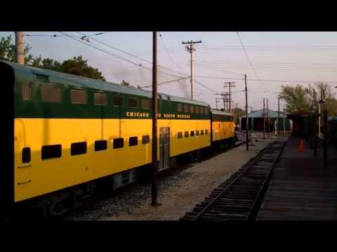 CNW Pullman Standard Coach 151 Saint Louis Car company 1 and 6 EMD F7 411 IRM