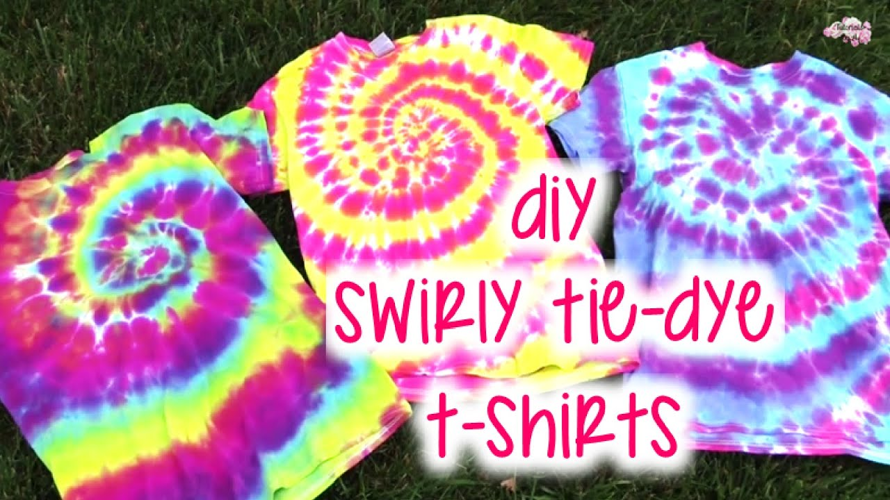 Diy Swirly Tie Dye T Shirts How To Tutorial Youtube