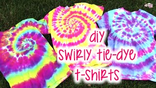 DIY Swirly Tie-Dye T-Shirts | How To | Tutorial thumbnail