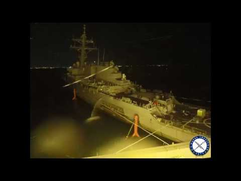 USS John S. McCain Loaded on Heavy Lift Transport