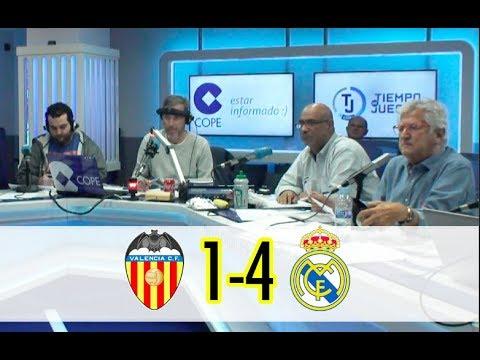 Valencia, 1 - Real Madrid, 4 | Así se vivió en Tiempo de Juego con la narración de Lama | COPE