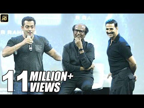 Salman Khan's BEST Praise For Rajnikanth & Akshay Kumar In Robot 2.0 Movie