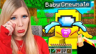 Saving Our BABY Among Us CREWMATES in Minecraft!