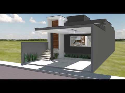 Projeto minha casa minha vida bravo engenharia e arquit for Casa moderna 7x20