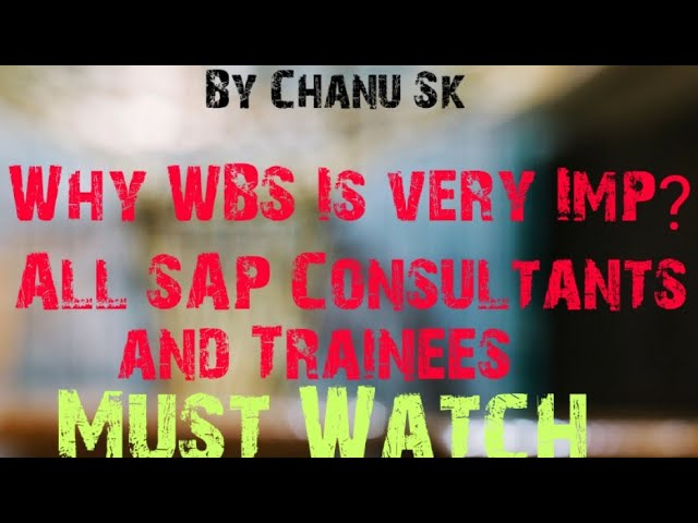 Interview Question-Why WBS Important for All modules.?  What is PS Module  All Must watch