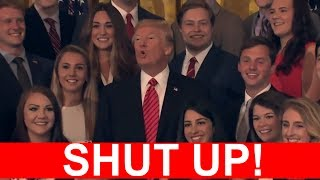 SHUT UP BE QUIET: President Donald Trump Tells CNN Reporter to SHUT UP During White House Photo-Op!