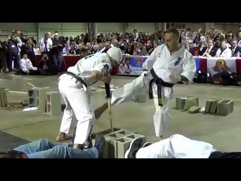 Kyokushin Power Breaking Demonstration with Albert Mady