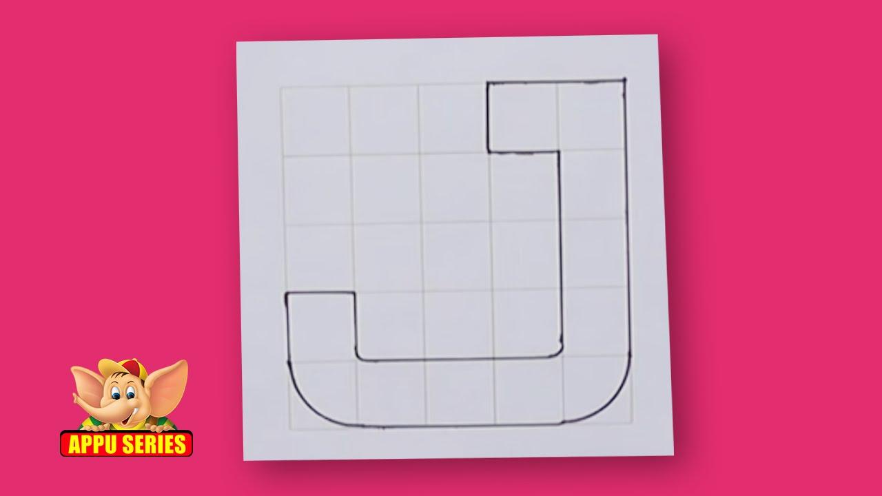 Write Block Style Alphabet \'J\' - Arts & Crafts - YouTube