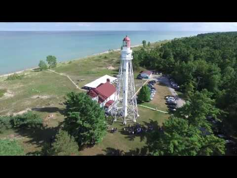 Aerial video of Audra and Brian Erickson's wedding