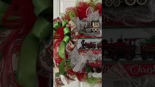 Christmas train wreath