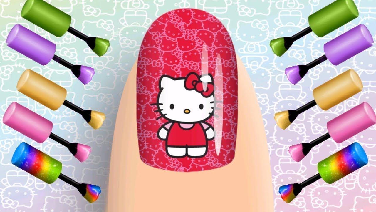Learn Colors with Nail Art Designs Colours to Kids Nursery Rhymes Baby Songs for Children
