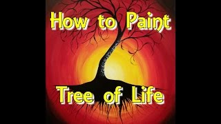 Video Tree of Life Step by Step Acrylic Painting on Canvas for Beginners download MP3, 3GP, MP4, WEBM, AVI, FLV Agustus 2018