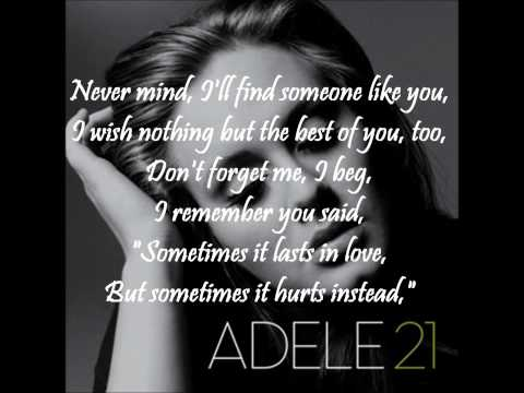 Adele  Someone like you WITH ONSCREEN LYRICS