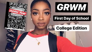 GRWM First Day of School | Morning Routine, Makeup, OOTD