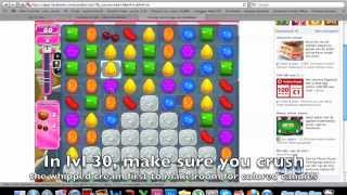 Candy Crush Saga - HOW TO DO level 30 very easy
