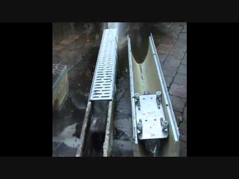 Cleaning A Trench Drain System Youtube