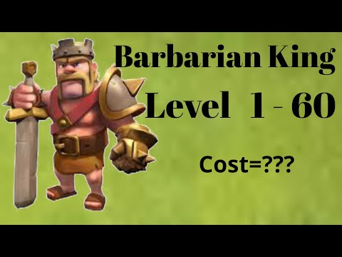 Barbarian King Upgrade Cost(Level 1 To 60) 2018 || Muhammad Arshan Saeed