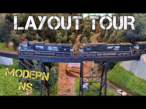 Layout Tour – Modern NS Asheville District in HO Scale 2020