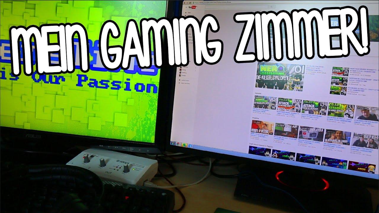 Gamer zimmer 6 bildschirme  ROOMTOUR IN MEINEM GAMING ZIMMER! - VLOGTIME   GAMERSTIME - YouTube