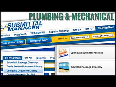 Submittal Manager: Plumbing and Mechanical