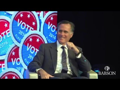 A Conversation with Governor Mitt Romney and Babson College President Kerry Healey