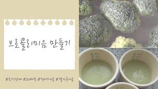[이유식만들기] 초기1단계 : 브로콜리미음 , 믹서사용…