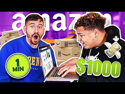 Can You Spend $1000 In ONE Minute On Amazon?? *BUYING EVERYTHING CHALLENGE*