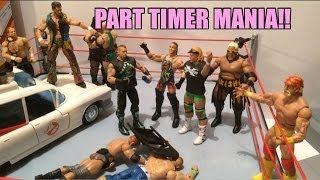 GTS WRESTLING: Part Timer Mania!! WWE figure matches animation! Mattel Elite series 27