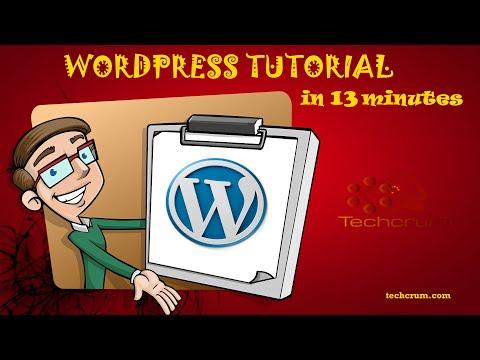Wordpress Tutorial in 13 minutes thumbnail