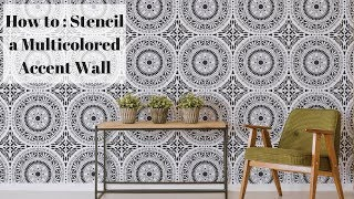 How To Stencil A Multicolored Accent Wall