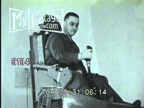 Stock Footage - 1960's Early NASA Astronaut Training in Pilot Chair