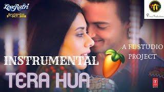 Tera Hua   Instrumental   Karaoke   Atif Aslam   Loveyatri 2018