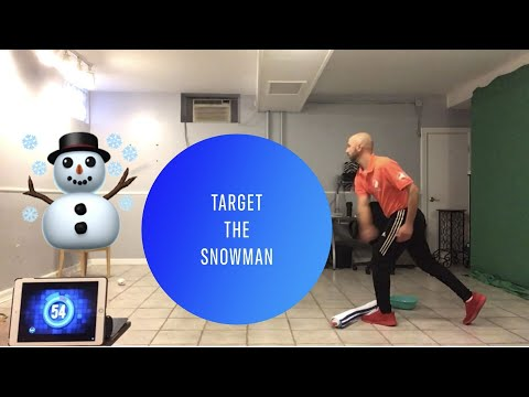 "PE At Home: ""Target The Snowman"" Challenge"